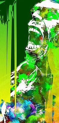 Hulk Grunge Art Print