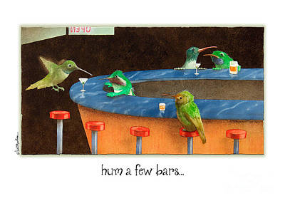 Card Painting - Hum A Few Bars... by Will Bullas