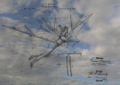 Aviation Mixed Media - Human Flight  by Dan Sproul
