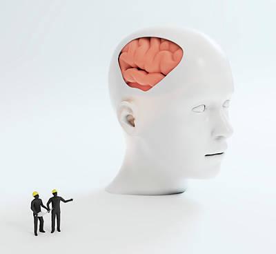 Human Psychology Art Print by Andrzej Wojcicki