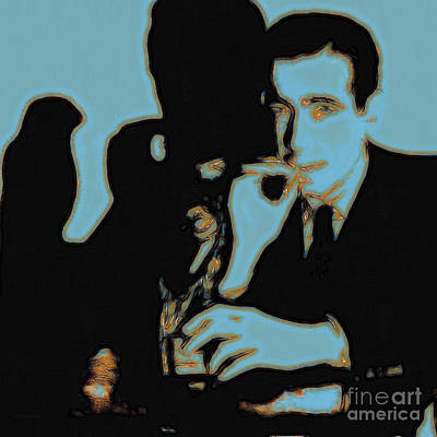 Humphrey Bogart And The Maltese Falcon 20130323m88 Square Art Print