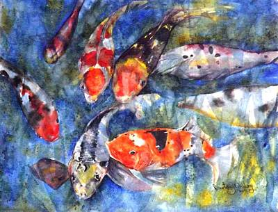 Painting - Hungry Koi by Courtney Wilding