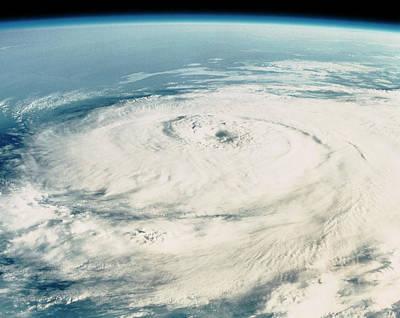 Hurricane Elena Art Print by Nasa/science Photo Library