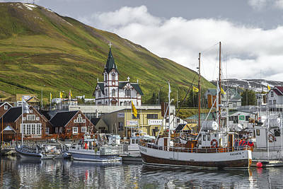 Photograph - Husavik Harbor by For Ninety One Days