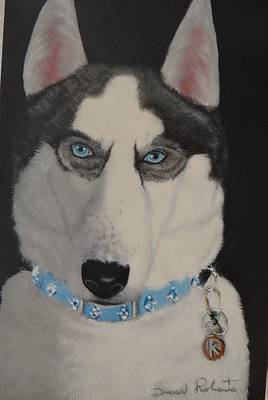 Painting - Huskie by Susan Roberts