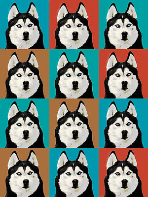 Photograph - Husky Pop Art by Susan Stone