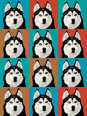 Husky Pop Art Print by Susan Stone