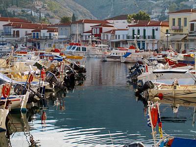 Hydra Port Photograph - Hydra Port by Alexandros Daskalakis