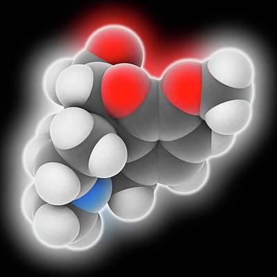 Cough Medicine Photograph - Hydrocodone Drug Molecule by Laguna Design