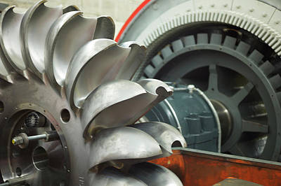 Hydroelectric Power Turbine Art Print by Ibm Research