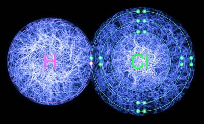 Electronic Photograph - Hydrogen Chloride by Lawrence Lawry