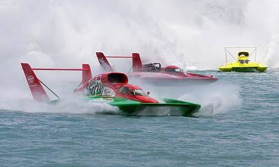 Hydroplane Racing Art Print by Jim West