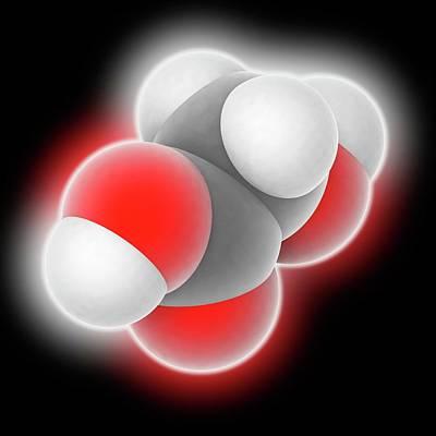 Crystalline Photograph - Hydroxyacetic Acid Molecule by Laguna Design