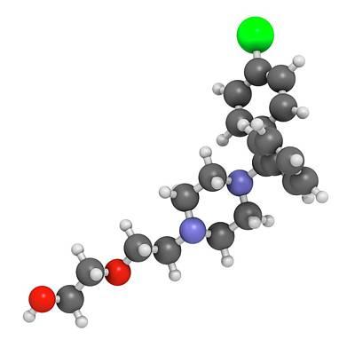 Molecule Photograph - Hydroxyzine Antihistamine Drug Molecule by Molekuul
