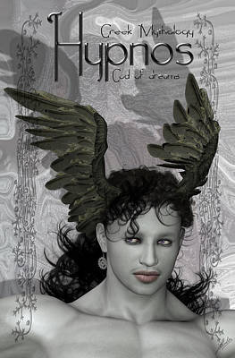 Decorating Mixed Media - Hypnos Myth by Quim Abella