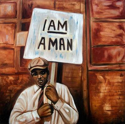 I Am A Man Art Print by Emery Franklin