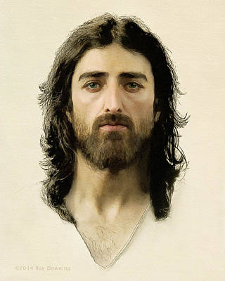 Jesus Face Digital Art - I Am The Way by Ray Downing
