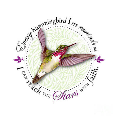 Birds Rights Managed Images - I can reach the stars with faith Royalty-Free Image by Amy Kirkpatrick