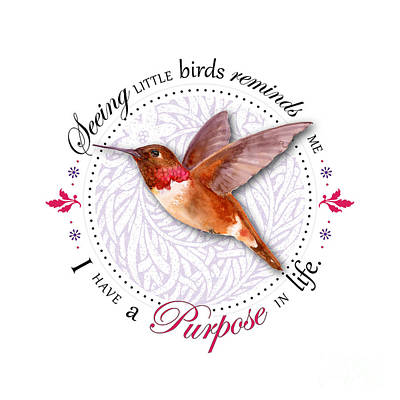 Birds Royalty-Free and Rights-Managed Images - I have a purpose in life by Amy Kirkpatrick