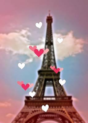 Photograph - Paris Hearts by JAMART Photography