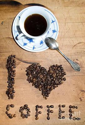 I Love Coffee Art Print by Sarka Olehlova