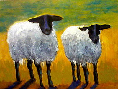 Painting - I Love Ewe Two by Marie Hamby