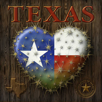 Digital Art - I Love Texas by James Larkin