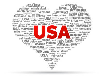 I Love Usa Art Print