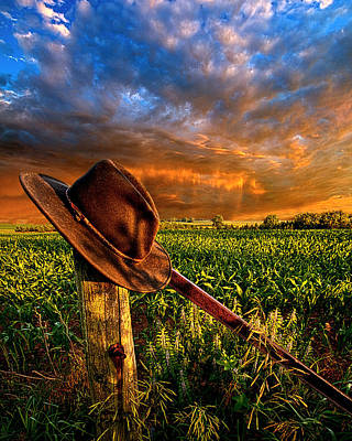 Cowboy Hat Photograph - I Was Here by Phil Koch
