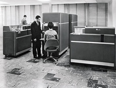 Processing Photograph - Ibm 650 Data Processing System by Underwood Archives