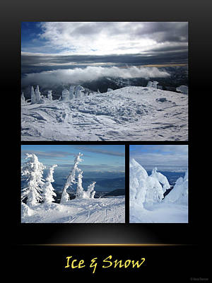 Photograph - Ice And Snow Poster by Nina Donner