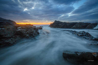 Photograph - Ice Blue......... Cambria by Tim Bryan