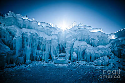 New Hampshire Photograph - Ice Castle by Edward Fielding