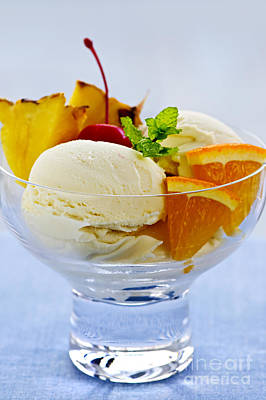 Sorbet Photograph - Ice Cream by Elena Elisseeva