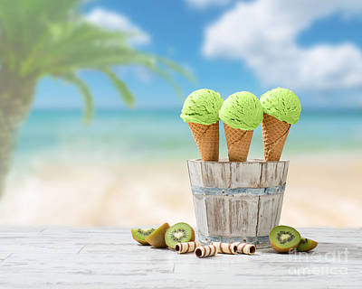 Ice Creams  Art Print by Amanda Elwell