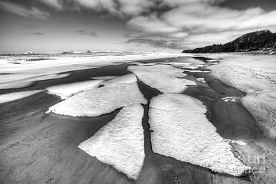 Ice On Lake Michigan Art Print by Twenty Two North Photography
