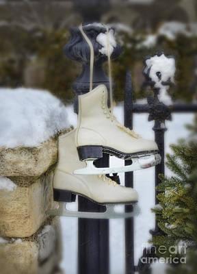 Photograph - Ice Skates On An Iron Gate by Jill Battaglia