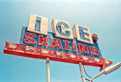 Ice Skating Art Print by Matthew Bamberg