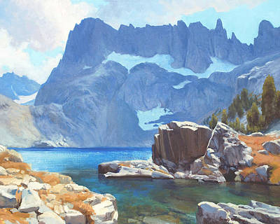 National Parks Painting - Iceberg Lake by Armand Cabrera