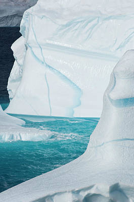 Icebergs, Cape York, Greenland Art Print by Daisy Gilardini