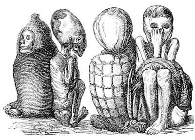 Ichma Sitting Mummies, Pre-incan Art Print by British Library