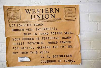 Potato Photograph - Idaho Potato Museum by Jim West