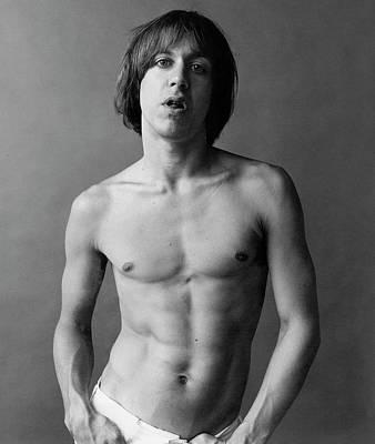 Iggy Pop Photograph - Iggy Pop Shirtless by Peter Hujar