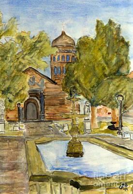 Iglesia En La Serena Art Print by Greg Mason Burns