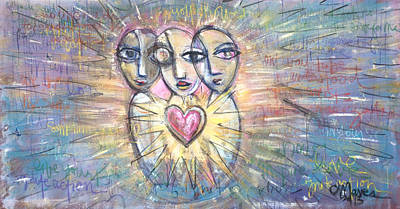 Painting - Ignite Love Number 1  by Laurie Maves ART