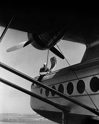 Sikorsky Photograph - Igor Sikorsky On An Airplane by Lusha Nelson