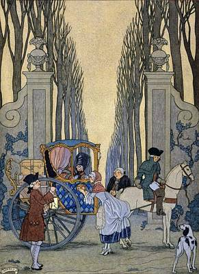 Literature Painting - Illustration From 'les Liaisons Dangereuses'  by Georges Barbier