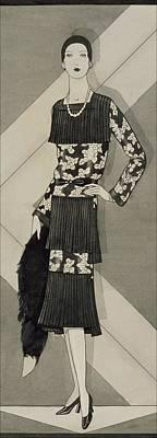 Designer Jewelry Digital Art - Illustration Of A Woman Wearing A Dress by Douglas Pollard