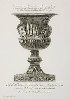 Illustration Of Classical Urn Art Print