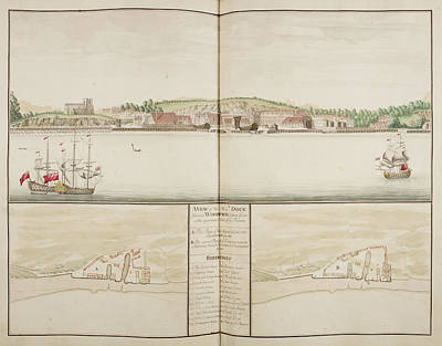 Illustration Of Sheerness Harbour Art Print by British Library
